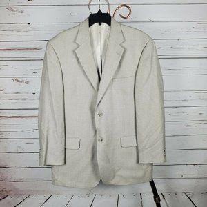 Andrew Fezza Champagne Blazer Sports Coat Size 42R